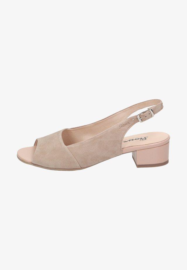 Peep toes - beige