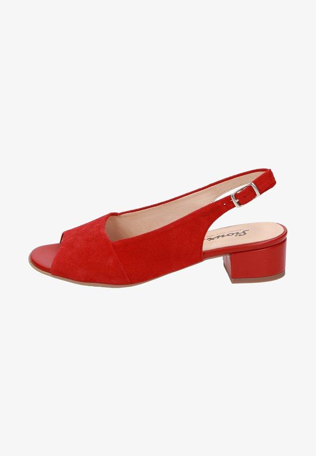 Peep toes - red