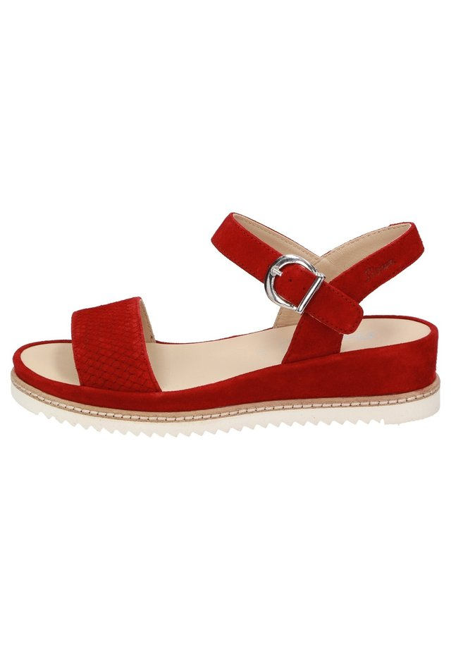 ACHARA - Sandals - rot