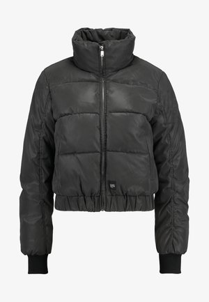 PUFFER REFLECTIVE JACKET WITH TURTLE NECK COLLAR - Zimní bunda - black