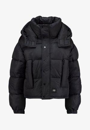 SHORT PUFFER JACKET HOOD - Zimní bunda - black