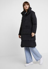 Sixth June - OVERSIZE PUFFER WITH FRONT POCKETS - Winter coat - black - 0