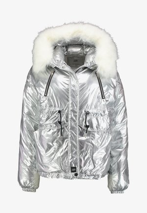PUFFER HOOD - Giacca invernale - silver
