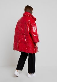 Sixth June - LONG PUFFER  WITH OVERSIZE COLLAR - Vinterkappa /-rock - red