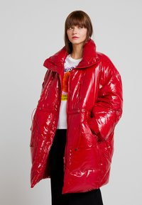 Sixth June - LONG PUFFER  WITH OVERSIZE COLLAR - Winter coat - red - 0