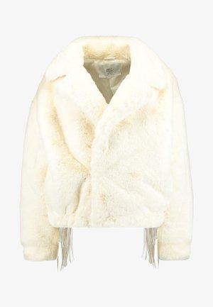 JACKET FRINGE ON THE BACK AND SLEEVES - Winter jacket - white
