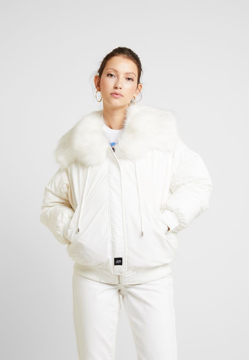 Sixth June - JACKET WITH DOUBLE POCKET AND ON THE HOOD - Talvitakki - white