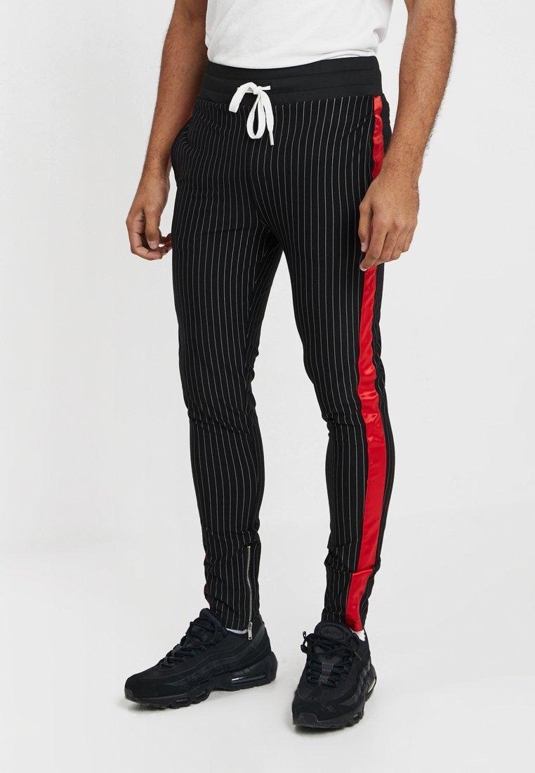 Sixth June - STRIPES BASEBALL PANTS - Pantalones deportivos - black