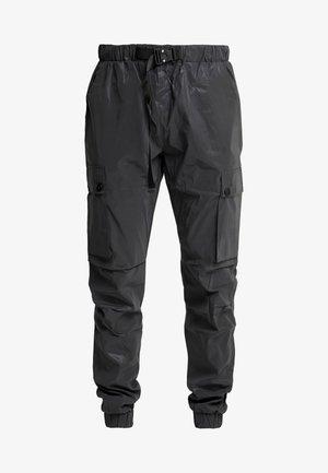 REFLECTIVE CARGO PANTS - Cargo trousers - black