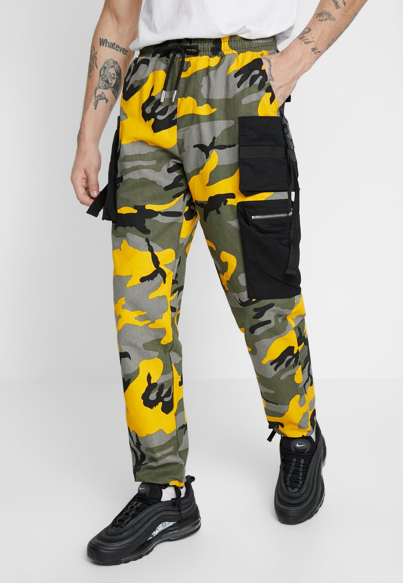 Sixth June - PANTS CAMO - Pantalon cargo - yellow