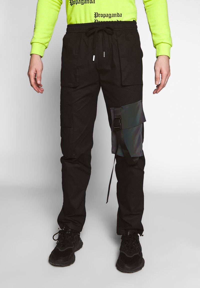 Sixth June - TACTICAL PANTS WITH IRIDESCENT POCKET - Cargobyxor - black