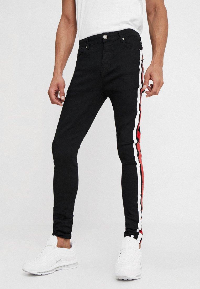 Sixth June - BICOLOR PRINTED  - Jeans Skinny Fit - black denim
