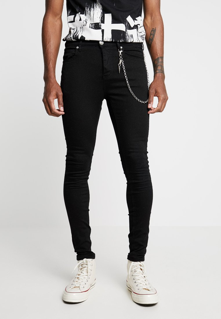 Sixth June - WITH CHAIN - Jeans Skinny Fit - black