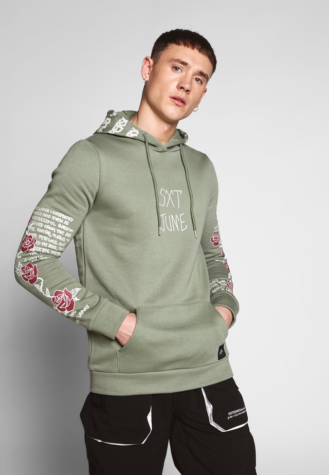 SKULL HOODIE - Jersey con capucha - taupe