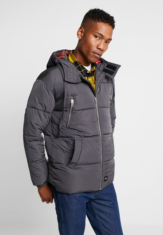 DOWNJACKET WITH SQUARE LINING - Talvitakki - grey