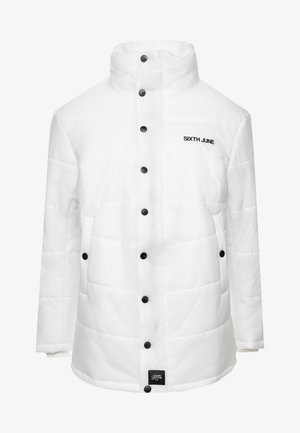 TRANSPARENT FABRIC DOWNJACKET - Zimní bunda - white
