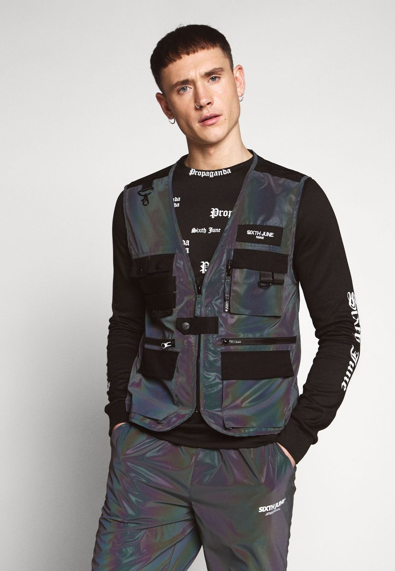 Sixth June - IRIDESCENT UTILITY VEST - Väst - black