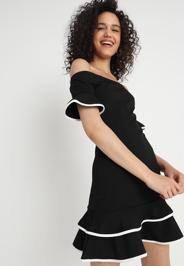 Sista Glam - FRANCES - Day dress - black/white