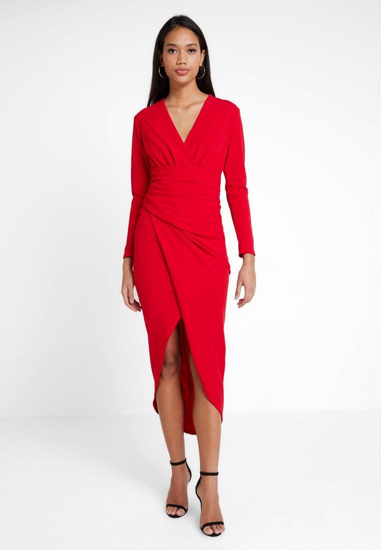 Sista Glam - AMBEY - Etuikleid - red
