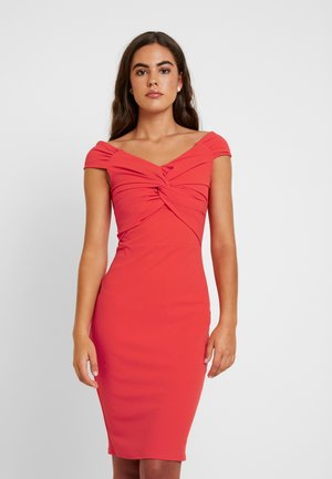 CAROLYN - Robe fourreau - coral
