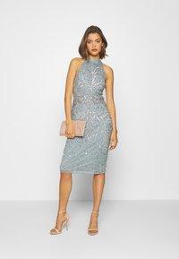 Sista Glam - GLOSSIE - Sukienka koktajlowa - blue grey - 1