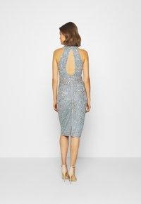 Sista Glam - GLOSSIE - Sukienka koktajlowa - blue grey - 2