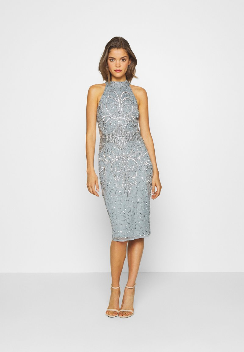 Sista Glam - GLOSSIE - Sukienka koktajlowa - blue grey