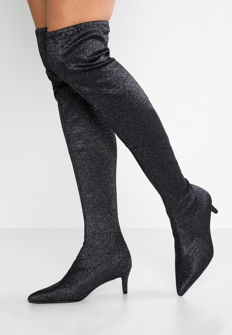 Simply Be - WIDE FIT STEFAN - Botas mosqueteras - glitter