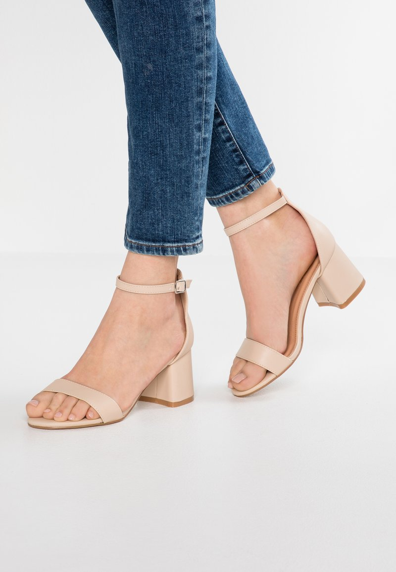 Simply Be - WIDE FIT CAMMY - Sandalias - nude