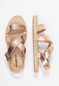 Simply Be - WIDE FIT  - Sandalen - rose gold metallic - 3