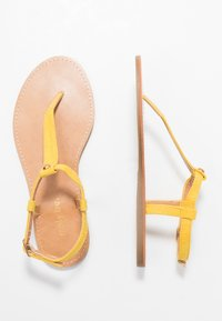 Simply Be - WIDE FIT VALERIE BASIC TOEPOST - T-bar sandals - yellow - 3