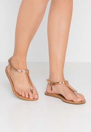 WIDE FIT VALERIE BASIC TOEPOST - Tongs - rose gold