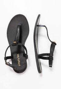 Simply Be - WIDE FIT VALERIE BASIC TOEPOST - Sandály s odděleným palcem - black - 3