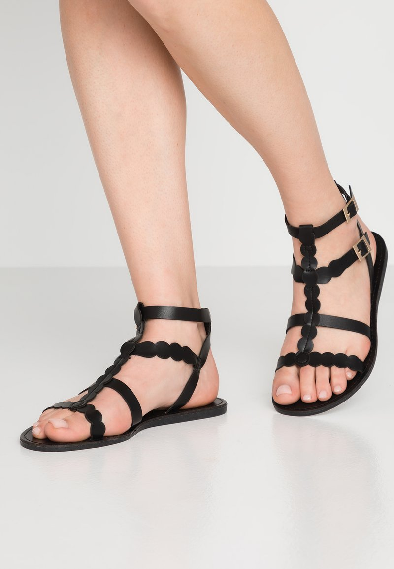 Simply Be - WIDE FIT DAPHNE GLADIATOR - Sandals - black