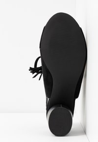 Simply Be - WIDE FIT EVELYN BLOCK HEEL LACE UP SHOE - Riemensandalette - black - 6