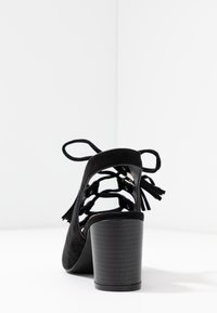 Simply Be - WIDE FIT EVELYN BLOCK HEEL LACE UP SHOE - Riemensandalette - black - 5