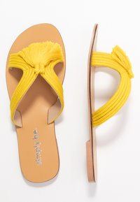 Simply Be - WIDE FIT AMARA TASSEL SLIDER - Mules - yellow - 3