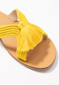 Simply Be - WIDE FIT AMARA TASSEL SLIDER - Mules - yellow - 2