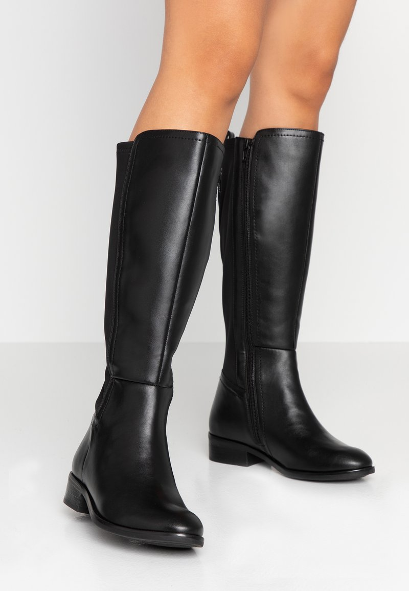Simply Be - WIDE FIT STANDARD STRETCH BACK KNEE HIGH BOOT - Høje støvler/ Støvler - black