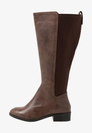 WIDE FIT DIXIE STRETCH BACK KNEE HIGH BOOT - Høje støvler/ Støvler - brown