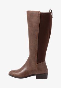 Simply Be - WIDE FIT DIXIE STRETCH BACK KNEE HIGH BOOT - Boots - brown - 1