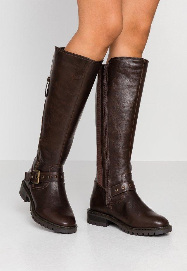 WIDE FIT GWEN KNEE HIGH - Cowboy/Biker boots - brown