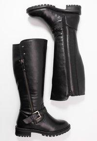 Simply Be - WIDE FIT GWEN KNEE HIGH - Cowboy/Biker boots - black - 3