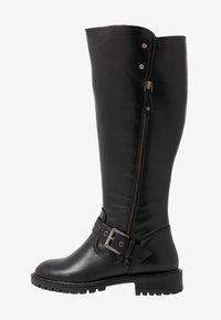 Simply Be - WIDE FIT GWEN KNEE HIGH - Cowboy/Biker boots - black - 1