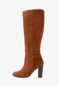 Simply Be - WIDE FIT LANI BLOCK KNEE HIGH BOOTS - High heeled boots - tan - 1