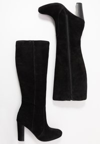 Simply Be - WIDE FIT LANI BLOCK KNEE HIGH BOOTS - High heeled boots - black - 3