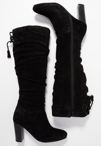Simply Be - WIDE FIT EDEN SLOUCH HEELED KNEE BOOTS - High heeled boots - black - 3