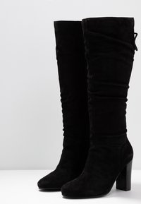 Simply Be - WIDE FIT EDEN SLOUCH HEELED KNEE BOOTS - High heeled boots - black - 4