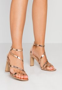 Simply Be - WIDE FIT STEPH SLIM HEEL STRAPPY - Sandals - rose gold - 0