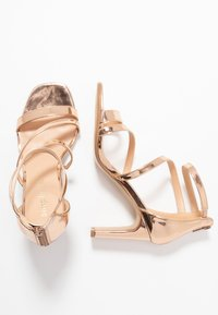 Simply Be - WIDE FIT STEPH SLIM HEEL STRAPPY - Sandals - rose gold - 3